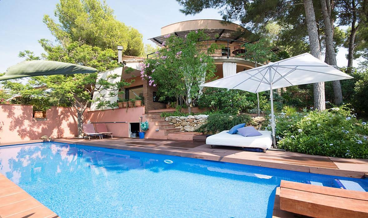 Villa en tamarit con piscina privada vistas al mar - Camping con piscina climatizada en tarragona ...