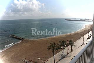 Apartamento para 8-10 personas en 1a línea de playa Castellón