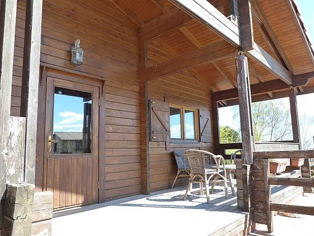 Ref 2440 casa adosada de madera jard n piscina isla - Maderas cantabria ...