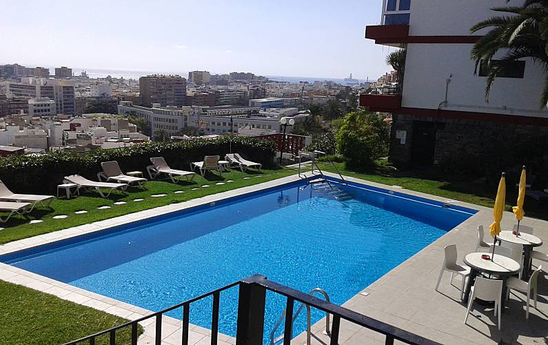 Apartment with pool and views of the city & sea Gran Canaria - Swimming pool