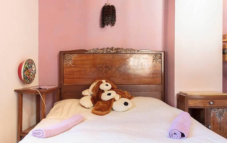 House Bedroom Ariege Merens-Les-Vals Cottage - Bedroom