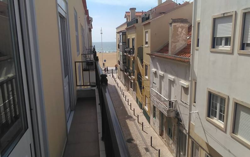 Apartamento com 2 quartos em frente à praia Leiria - Quarto