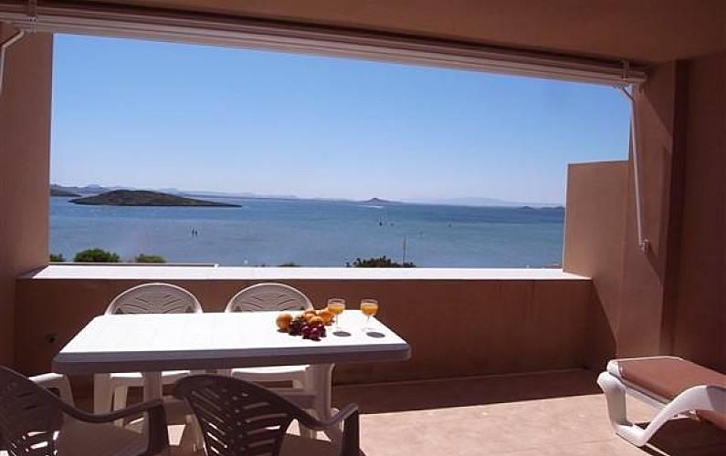 Hermoso apartamento en 1a línea de playa Murcia - Terraza