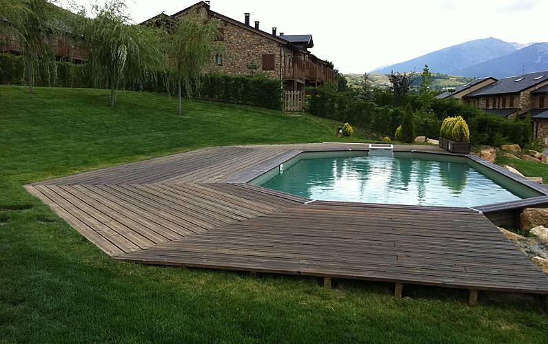 House Swimming pool Pyrenees-Orientales Estavar Cottage - Swimming pool