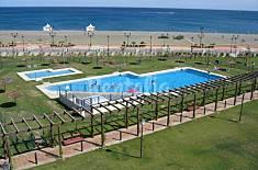 Apartamento para 2-5 personas en 1a línea de playa Málaga