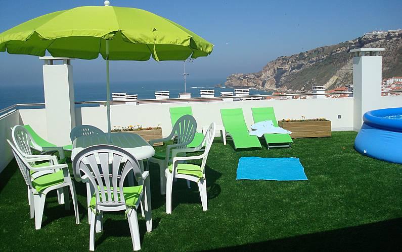 Apartamento para alugar a 200 m da praia Leiria - Terraço