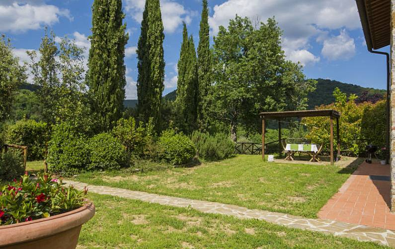 Casa per 8 persone con piscina pieve di san pietro a for Piani di casa di campagna francese con veranda