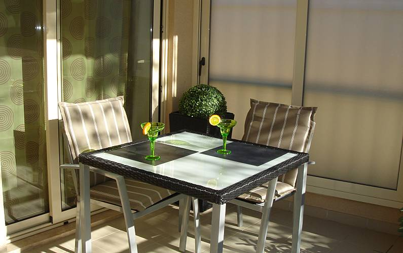Acolhedor Terraço Algarve-Faro Lagos Apartamento - Terraço
