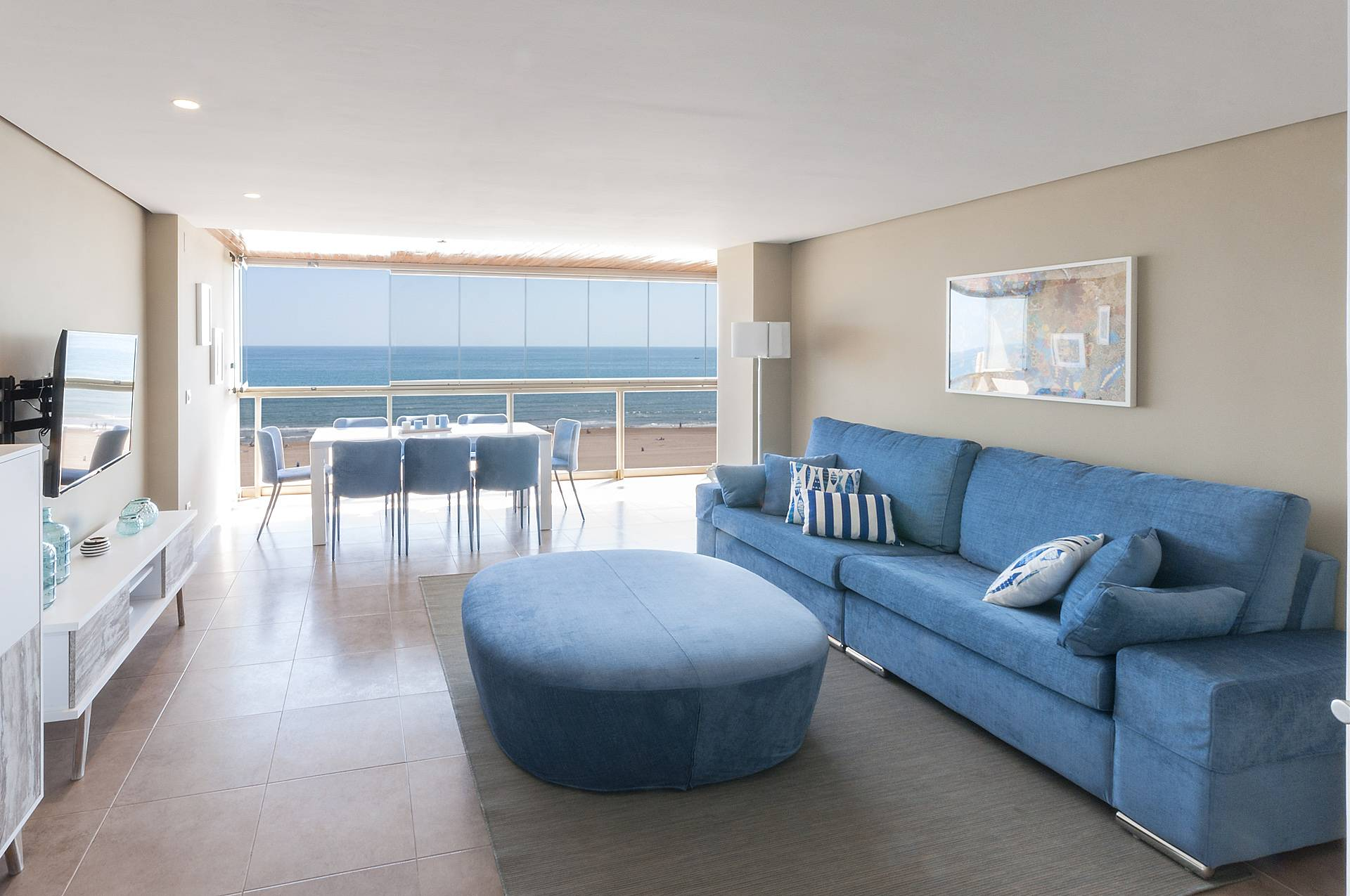 Apartamento para 7 personas en 1a l nea de playa grau i platja gandia valencia - Playa gandia apartamentos ...