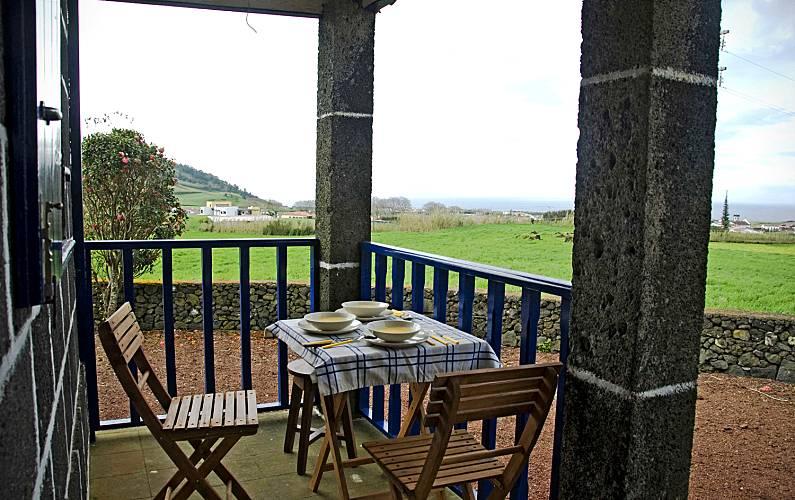 Casa Terraza São Miguel Ribeira Grande Villa en entorno rural - Terraza