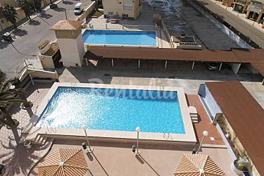Apartamento en alquiler en 1 l nea de playa el for Piscinas publicas valencia