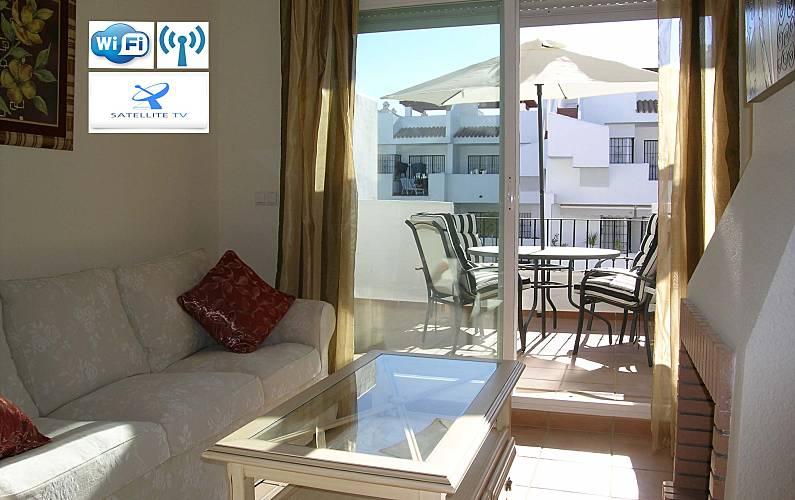 Relax, Beach, golf...! 130 s.q.m. penthouse luxury Huelva - Living-room