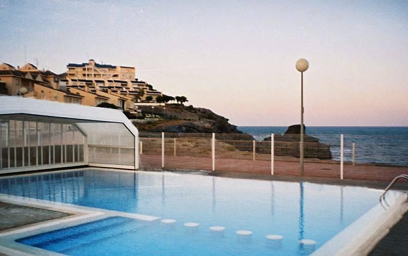 Apartamento para 4 personas en 1a línea de playa Murcia