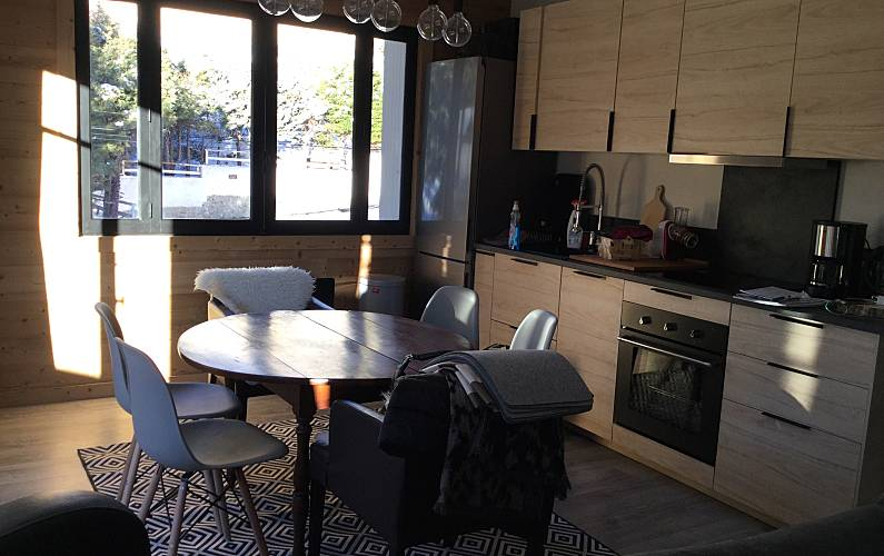 Apartamento Cozinha Pirineus Orientals Font-Romeu-Odeillo-Via Apartamento - Cozinha