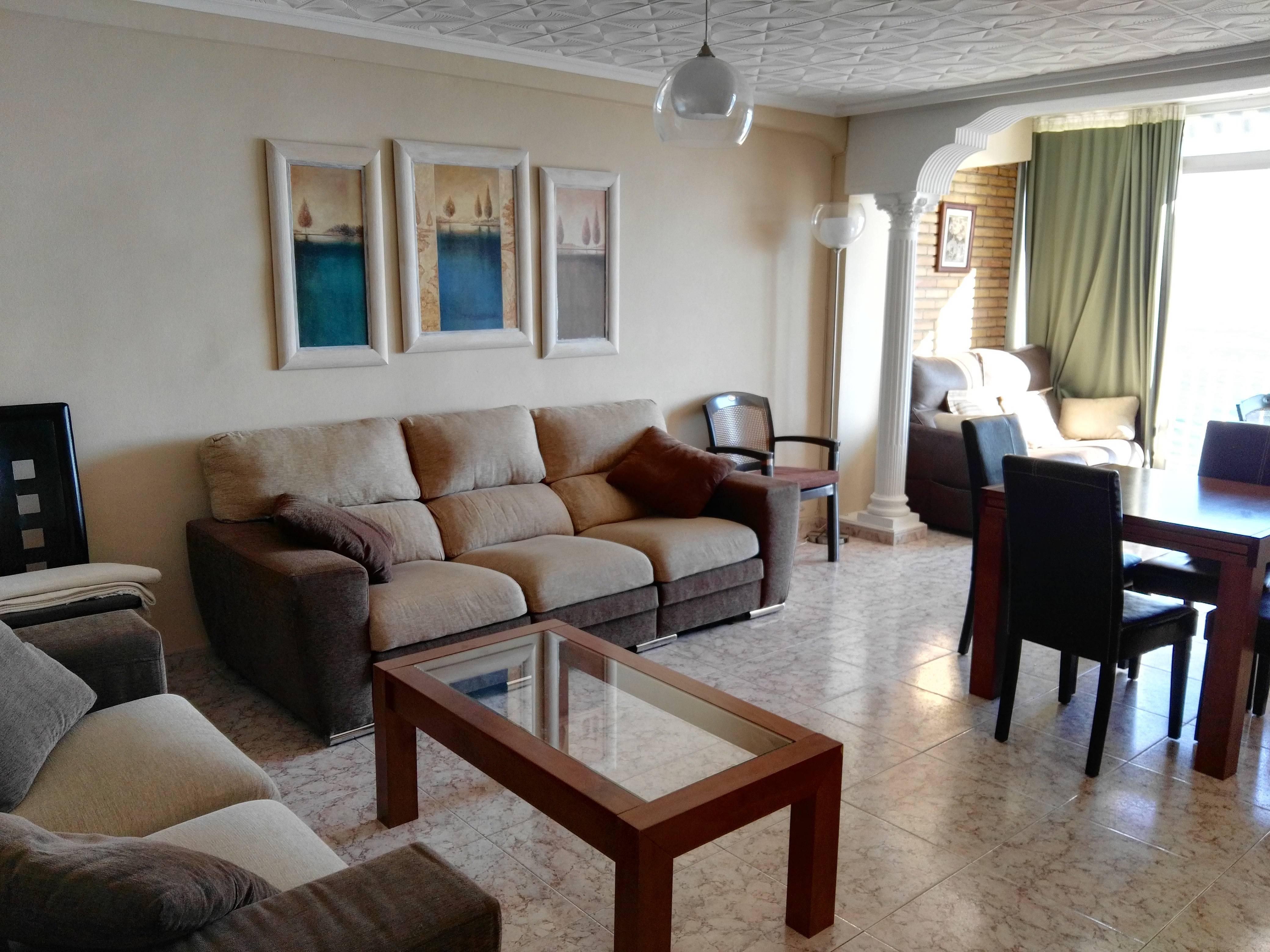 Apartamento en alquiler en 1a l nea de playa benidorm alicante costa blanca - Alquiler de apartamentos en benidorm particulares ...