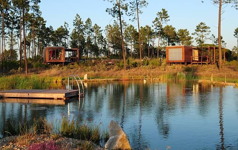 Alojamentos no Cocoon Eco Design Lodges Setúbal - Vistas da casa