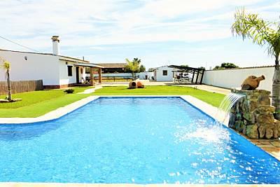 Villa 11 personas, piscina privada a 10 min playa Cádiz