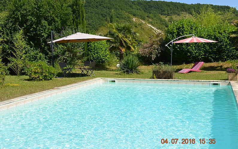 Rural Swimming pool Lot-et-Garonne Fumel Countryside villa - Swimming pool
