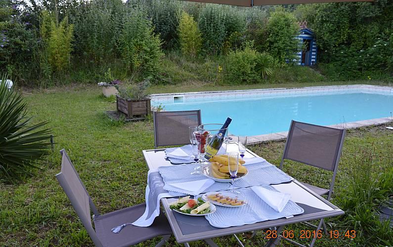 Casa Piscina Lot e Garona Fumel Villa rural - Piscina
