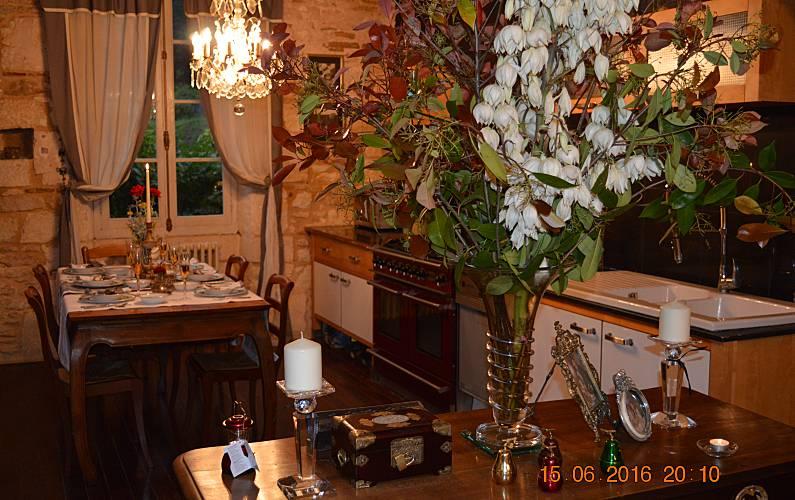 Casa Cozinha Lot e Garona Fumel Villa rural - Cozinha