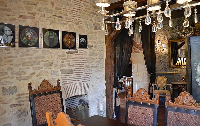 Casa Sala de Jantar Lot e Garona Fumel Villa rural - Sala de Jantar