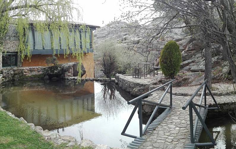 House Garden Madrid Manzanares el Real Cottage - Garden