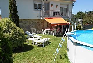 Casa rural con piscina y 1200 metros de finca Pontevedra
