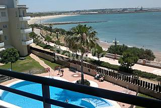 Apartamento con vistas al mar, piscina, internet Cádiz
