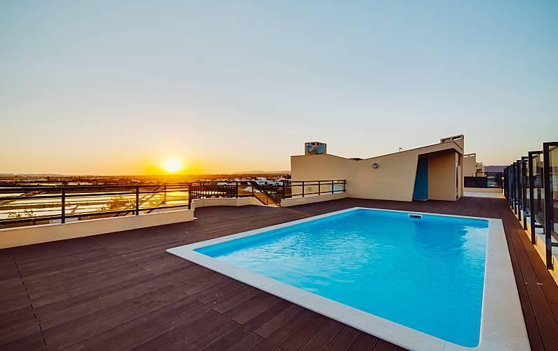 Apt T3 Olhão Marina - sea view - pool - Free WI-FI Algarve-Faro - Terraço