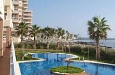 Lujoso apartamento en alquiler 1ª línea de playa Murcia