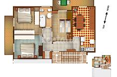 6-7 beds, 3 bedroom, 150 mt from the beach Savona
