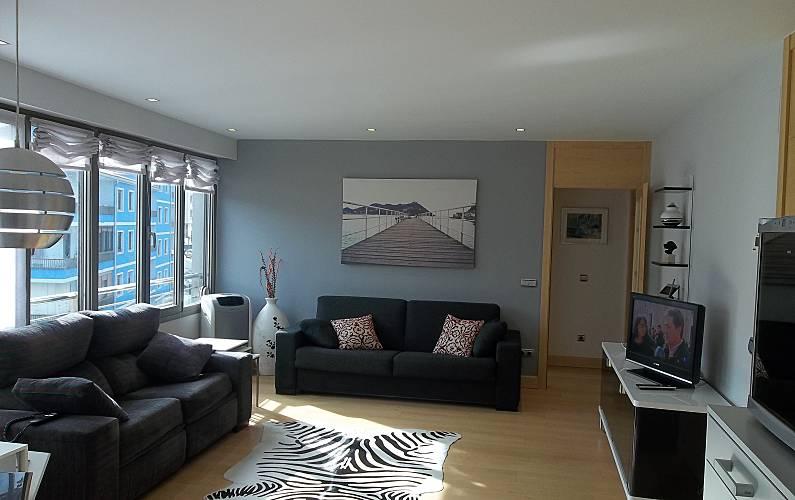 appartement met 1 slaapkamer op 50 meter van het strand gipuzkoa woonkamer