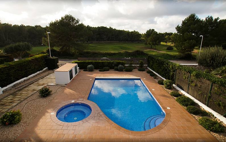 Jacuzzi Es.Detached Villa With Own Private Pool And Jacuzzi Son Parc