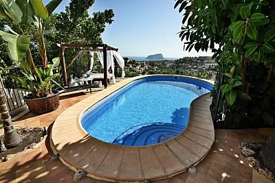 Vista al mar, A/C, piscina vallada, cocina verano Alicante
