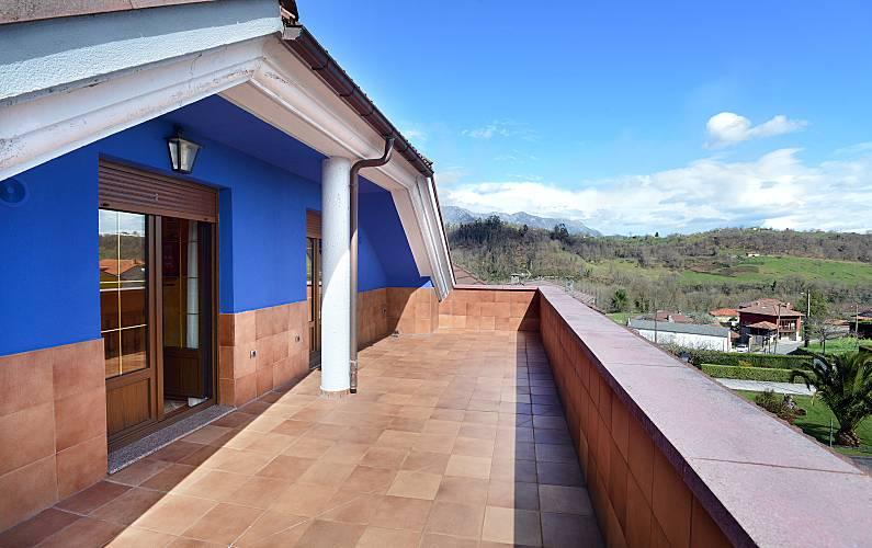Casa Terraço Astúrias Piloña Villa rural - Terraço