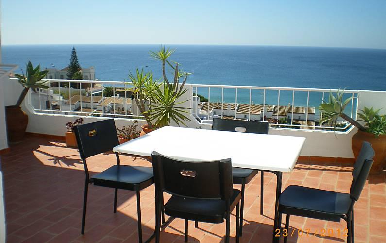 Apartamento para 4 pessoas a 250 m da praia Algarve-Faro - Terraço