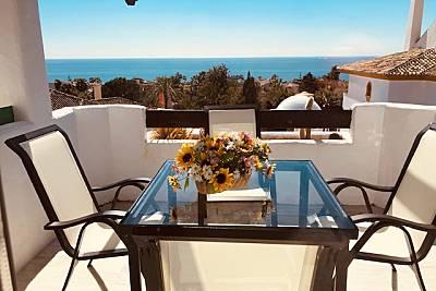 Atico cerca de la playa con vistas al mar  Málaga