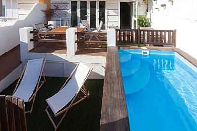 Casa de 4 habitaciones en 1a línea de playa Cádiz