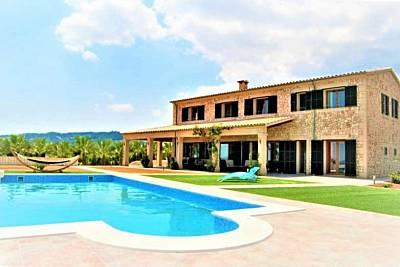 Finca ES VINYET para 12 personas en Petra (Mallorca). Ideal para familias. Piscina privada- VILLAONLINE - WiFi Gratis Mallorca