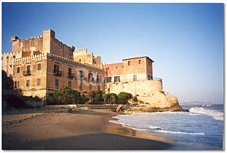 Castle of the XIV century overlooking the sea Agrigento