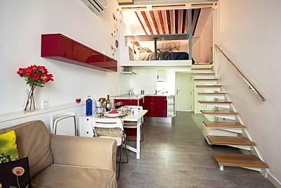 Loft alojamiento y desayuno en Barrio Las Letras Madrid
