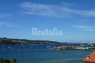 Apartment with sea view at 80 m from the beach Pontevedra