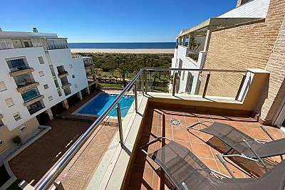 Apartamento para 6-7 personas en 1ª línea de playa Huelva