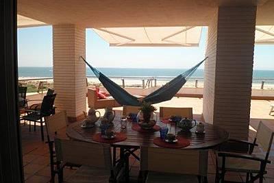 Semi-atico,1ª linea,vista mar(A/A frio/calor)4hab. Huelva