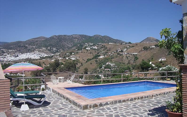 Casa en alquiler con piscina c mpeta m laga la axarqu a for Casas con piscina en malaga