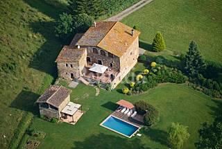 Masia con piscina y jardin privado sin compartir  Girona/Gerona