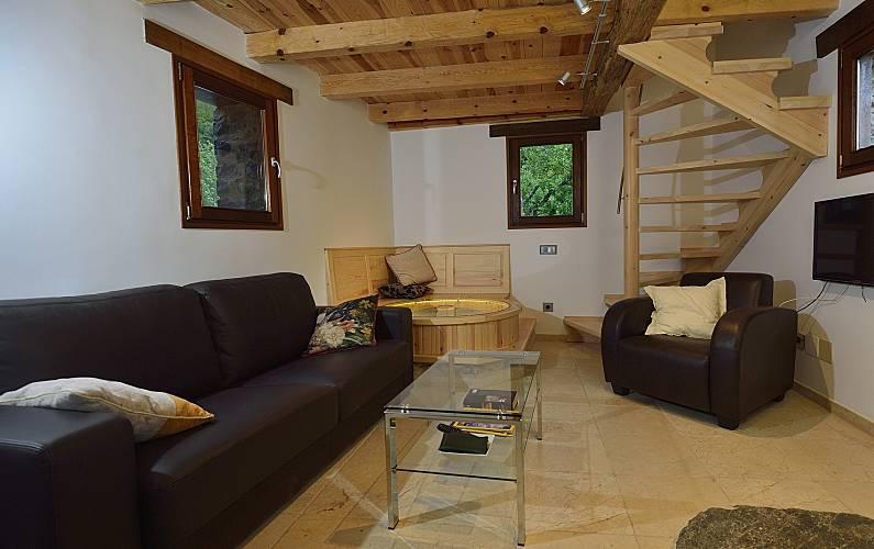 2 Living-room Huesca Tella-Sin Cottage - Living-room