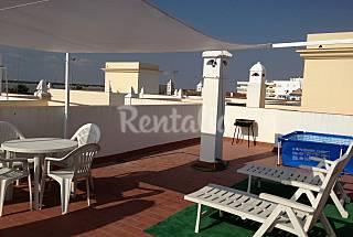 Atico vistas al mar y al coto.terraza y Cádiz