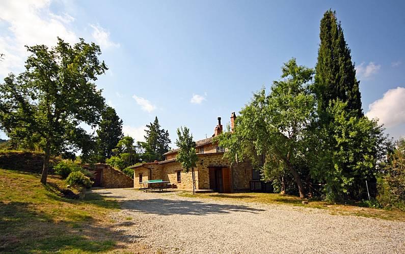 I Parte esterna della casa Arezzo Cortona Casa di campagna - Parte esterna della casa