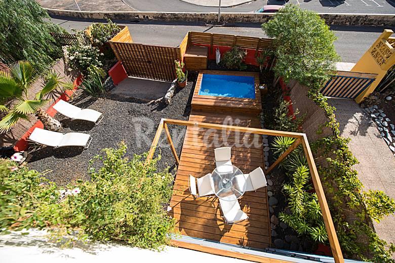 Casa de los artistas luz y color piscina jard n caleta - Jardines con piscinas pequenas ...